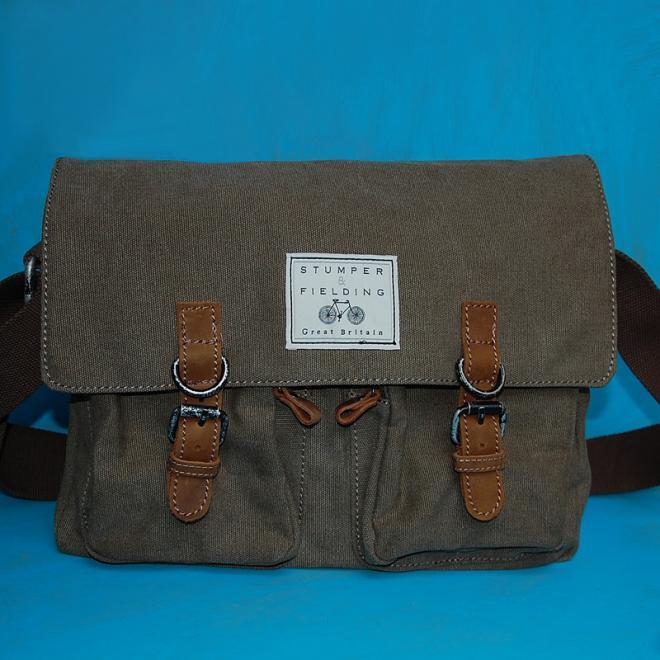 Khaki Cotton Field Bag 'The Cranbourne'