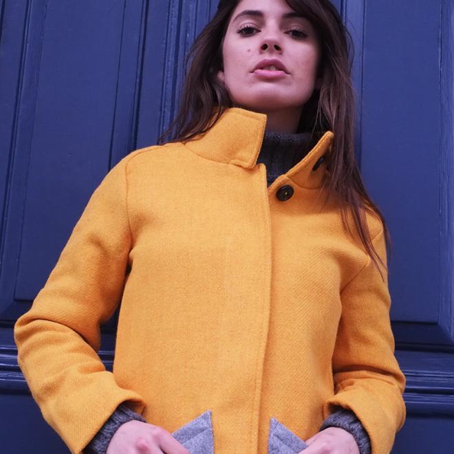 Ladies Bright Yellow Harris Tweed Jacket