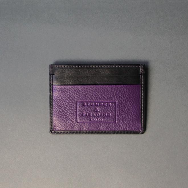 Black and Purple Card Holder