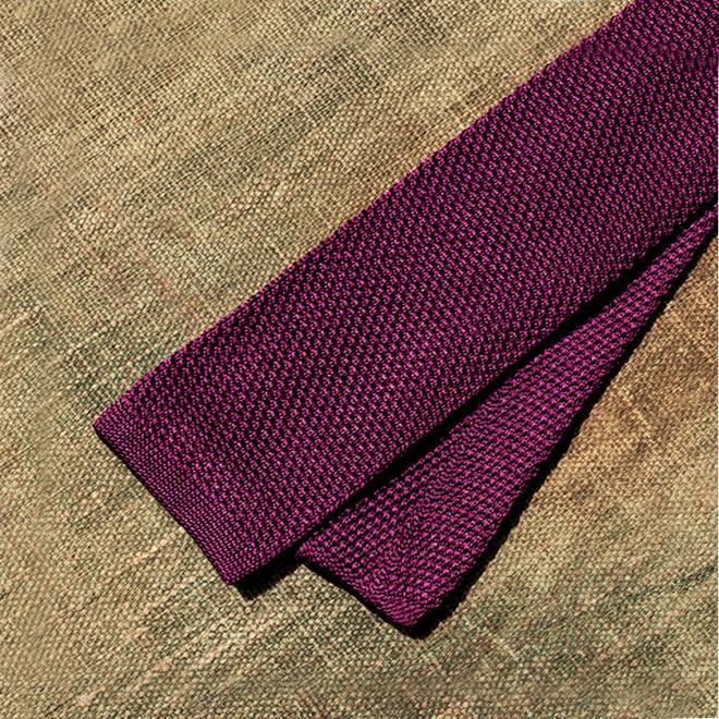 Purple Silk Tie