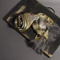 Pure gold and silver silk scarf