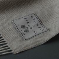 Wool Herringbone Blanket Beige