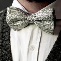 Mint Green Silk Bowtie