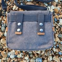 Grey Cotton Field Bag 'The Buckley