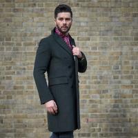 Men s Double Breasted Wool Overcoat