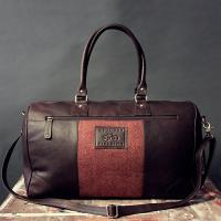 Terracotta Tweed and Brown Leather Holdall