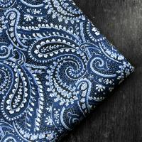 Blue Paisley Silk Pocket Hankie
