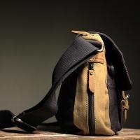 Cotton Satchel 'The Jerwood' Beige-Khaki/Navy