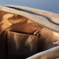 Khaki Cotton Field Bag 'The Loxley'