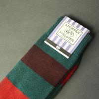 Brown orange and green Socks