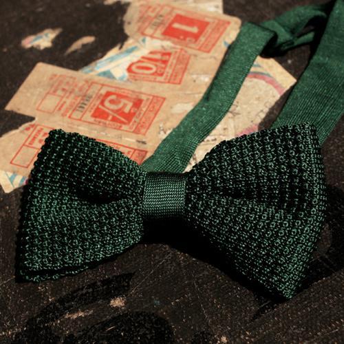 Green Clip Bowtie