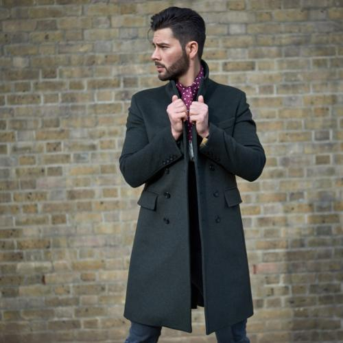 Men s Double Breasted Wool Overcoat