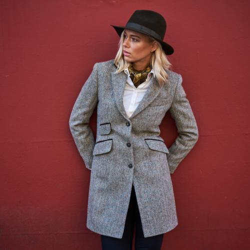 Ladies Harris Tweed Three Quarter Length Coat
