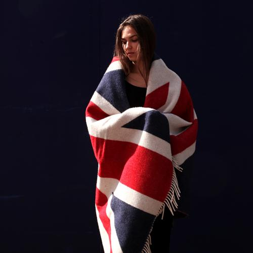 Pure Wool union Jack Blanket